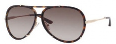 Jimmy Choo Terrence/S Sunglasses Sunglasses - 0NHO Havana (HA Brown Gradient Lens)