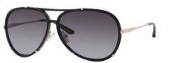 Jimmy Choo Terrence/S Sunglasses Sunglasses - 0REW Shiny Black (HD Gray Gradient Lens)