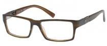Guess GU 1702 Eyeglasses Eyeglasses - BRN: Brown Khaki Horn