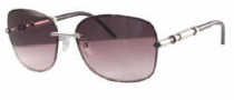 Givenchy SGV420 Sunglasses Sunglasses - 579 Shiny Silver / Gradient Amber Lens