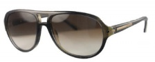 Givenchy SGV775 Sunglasses Sunglasses - 6LM Green - Brown / Gradient Brown Lens