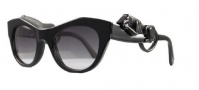 Givenchy SGV782 Sunglasses Sunglasses - 700 Shiny Black Panther Cateye / Gradient Smoke Lens