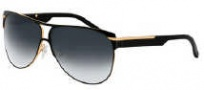 Givenchy SGV357 Sunglasses Sunglasses - 8FH Gold - Black / Gradient Smoke Lens