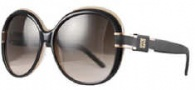 Givenchy SGV695 Sunglasses Sunglasses - D22S Black - Cream / Gradient Brown Lens