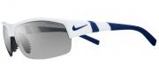 Nike Show X2 EV0620 Sunglasses Sunglasses - EV0620-107 White / Midnight Navy / Grey W/ Silver Flash / Orange Blaze Lens