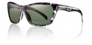 Smith Aura Sunglasses Sunglasses - Black Tortosie / Polarized Gray Green