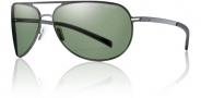 Smith Showdown Sugnlasses Sunglasses - Matte Gunmetal / Polarized Gray Green