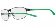 Nike 4201 Eyeglasses Eyeglasses - 016 Satin Black / Green