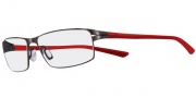 Nike 4203 Eyeglasses Eyeglasses - 016 Satin Black / Red