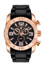Swiss Legend Commander Chrono Watch 20067 Watches - RG-01 Rose Gold Dial / Black Band