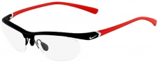 Nike 7070/2 Eyeglasses Eyeglasses - 015 Matte Black on Red