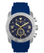 Swiss Legend Commander Rubber Watch 20065 Watches - 33-GNB Blue Face / Gold Dial / Blue Band
