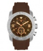 Swiss Legend Commander Rubber Watch 20065 Watches - 44-RN Brown Face / Rose Dial / Brown Band