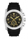 Swiss Legend Commander Rubber Watch 20065 Watches - 11-GN Black Face / Gold Dial / Black Band