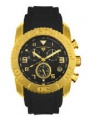 Swiss Legend Commander Rubber IP Watch 20065 Watches - I Black Face / Gold Dial / Black Band