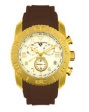 Swiss Legend Commander Rubber IP Watch 20065 Watches - K White Face / Gold Dial / Brown Band