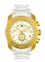 Swiss Legend Commander Rubber IP Watch 20065 Watches - L White Face / Gold Dial / White Band
