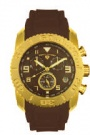 Swiss Legend Commander Rubber IP Watch 20065 Watches - M Brown Face / Gold Dial / Brown Band