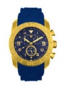 Swiss Legend Commander Rubber IP Watch 20065 Watches - O Blue Face / Gold Dial / Blue Band