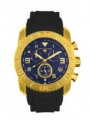 Swiss Legend Commander Rubber IP Watch 20065 Watches - P Blue Face / Gold Dial / Blue Band