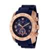 Swiss Legend Commander IP Rubber Watch 20065 Watches - RG-03 Blue / Rose Gold