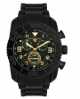 Swiss Legend Commander Rubber Black IP Watch 20065 Watches - Q Black Face / Gold Dial