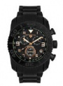 Swiss Legend Commander Rubber Black IP Watch 20065 Watches - S Black Band / Rose Dial
