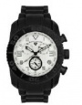 Swiss Legend Commander Rubber Black IP Watch 20065 Watches - V White Face / Black Dial