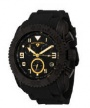 Swiss Legend Commander Rubber Black IP Watch 20065 Watches - BB-01-GA Black Face / Gold Dial