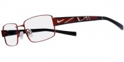 Nike 8075 Eyeglasses  Eyeglasses - 646 Red / Black / Red