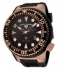 Swiss Legend Neptune Diver Rose IP Watch 21818 Watches - 21818D-RG-01 Brown Crown / Black Band