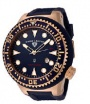 Swiss Legend Neptune Diver Rose IP Watch 21818 Watches - 21818D-RG-03 Blue Crown / Black Band