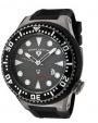 Swiss Legend Neptune Diver Gunmetal IP Watch 21818 Watches - 21818D-GM-014B Gray Face / Black Band