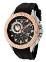 Swiss Legend Evolution IP Bezels Watch 10064 Watches - 10064-01-RB Black Face / Rose Crown