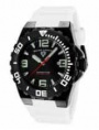 Swiss Legend Expedition Watch 10008-BB Watches - BB-01WHT Black Face / Black Bezel / White Band