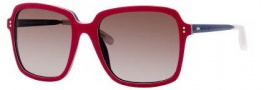 Tommy Hilfiger 1089/S Sunglasses Sunglasses - 0WGD Red Crystal Blue / J6 Brown Gradient Lens