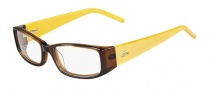 Lacoste L2607 Eyeglasses Eyeglasses - 210 Brown / Yellow