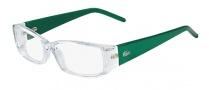 Lacoste L2607 Eyeglasses Eyeglasses - 971 Crystal / Green