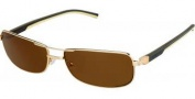 Tag Heuer Automatic Vintage 0885 Sunglasses Sunglasses - 214 Dark Brown - Ivory Temple / Gold / Brown Precision Lens