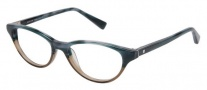 Modo 6012 Eyeglasses Eyeglasses - Blue Horn Brown Crystal
