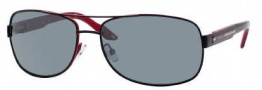 Carrera X-cede 7007/S Sunglasses Sunglasses - KINP Black Red / RT Gray Flash Polarized Lens