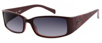 Guess GU 7136 Sunglasses Sunglasses - BUCH-35: Burgundy/ Cheetah