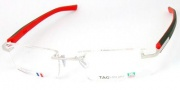 Tag Heuer Trends Rubber 8110 Eyeglasses Eyeglasses - 002 Brushed Black / Red