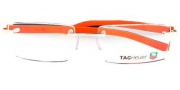 Tag Heuer Trends Rubber 8110 Eyeglasses Eyeglasses - 006 Polished Dark Grey / Orange