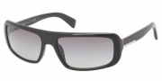 Prada PR 03OSA Sunglasses Sunglasses - 1AB3M1 Gloss Black / Gray Gradient