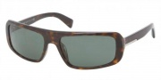 Prada PR 03OSA Sunglasses Sunglasses - 2AU301 Havana / Green