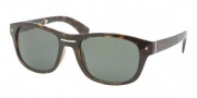 Prada PR 13OS Sunglasses Sunglasses - 2AU0B2 Havana / Crystal Green