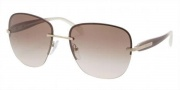 Prada PR 50OS Sunglasses Eyeglasses - ZVN0A6 Pale Gold / Brown Gradient