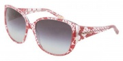 Dolce & Gabbana DG4116 Sunglasses Sunglasses - 19038G Red Lace / Gray Gradient