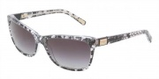 Dolce & Gabbana DG4123 Sunglasses Sunglasses - 19018G Black Lace / Gray Gradient